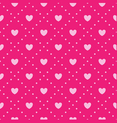 Pink heart pattern vector