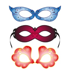 Masquerade party masks vector