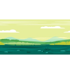 Meadows game background landscape vector