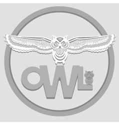 White owl vector