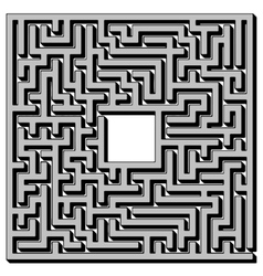 Labyrinth isolated on white background vector