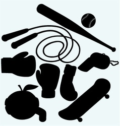 Set sporting goods vector image