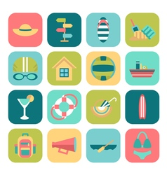 Set of summer icons vector