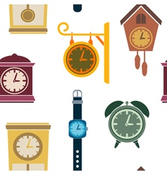 Seamless pattern with clock vector