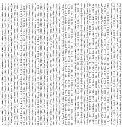 Algorithm binary data code decryption and vector