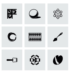 Art tool icon set vector