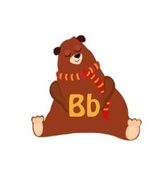 Bear funny alphabet animal vector
