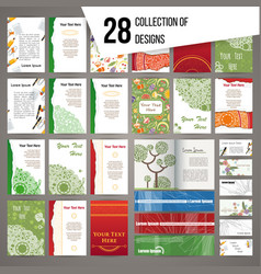 Big collection of random colorful cards vector