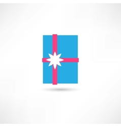 Blue gift vector