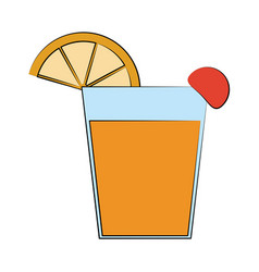 cocktail in garnished glass icon image vector image