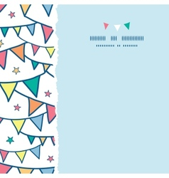 Colorful doodle bunting flags square torn seamless vector image