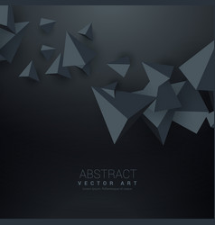 Dark background with 3d triangle shapes vector