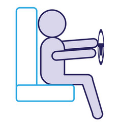 Driver silhouette avatar icon vector