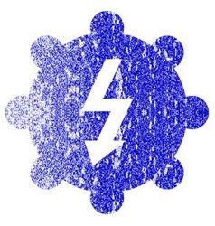 Electricity cog wheel textured icon vector
