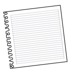 figure notebook school icon vector image vector image