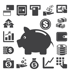 Finance and money icon set eps10 vector image vector image