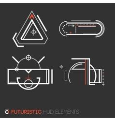 Futuristic HUD elements vector image vector image