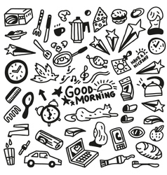Good morning doodles - vector