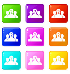 group of people with unknown personality set 9 vector image