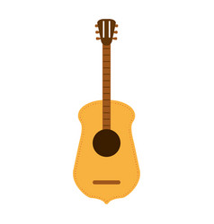 guitar flat vector image vector image