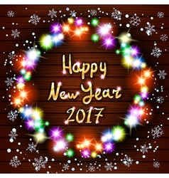 Happy new year greeting card with best wishes vector