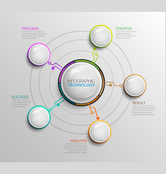 Infographic bussiness technology template vector
