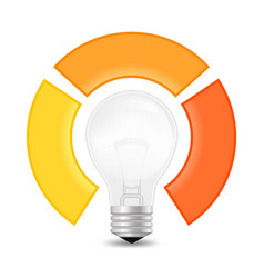 Light bulb infographic template for lamp diagram vector