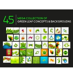mega set of nature concepts vector image