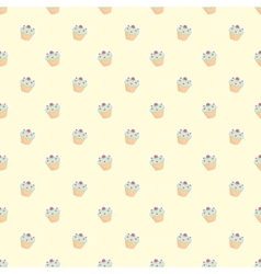 Muffin cupcake seamless wallpaper decoration vector image vector image