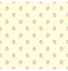 Muffin cupcake seamless wallpaper decoration vector image