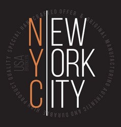 new york brooklyn modern typography for t-shirt vector image