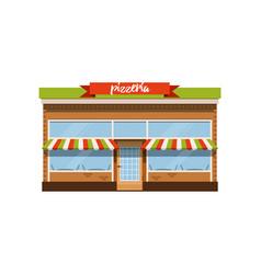 pizzeria cafe small store shop facade vector image