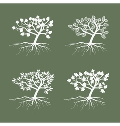 Simple trees Environmental symbol tree vector image vector image