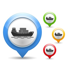 Transport barge icon vector