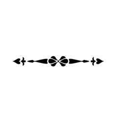 Vintage calligraphic divider - retro decorative vector