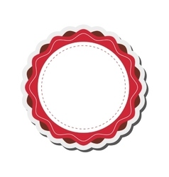 Round decorated badge icon vector