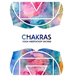 Watercolor chakras background vector image