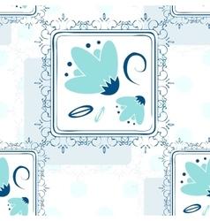 Seamless repeating background - polka dot roses vector