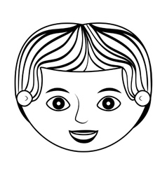 Front face man silhouette with stripes hair vector