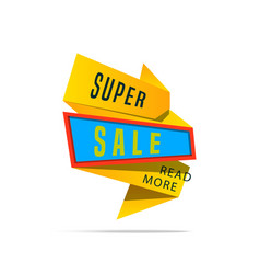 Super sale shining banner on colorful background vector