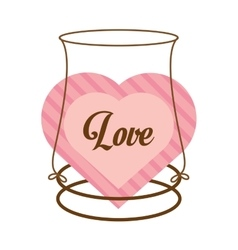 Love decor card cute heat vector