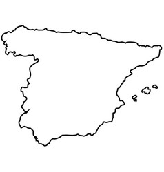 isolated spanish map vector image