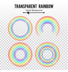 Rainbow circle element set color spectrum vector