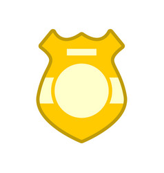 Police badge isolated sign of policeman officer vector