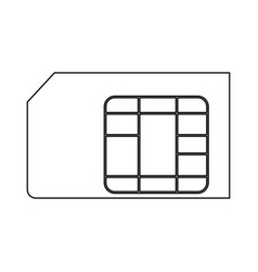 Sim card the black color icon vector
