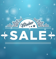 Signboard Winter Sale tree stars vector image