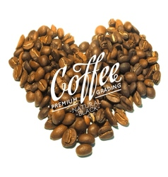 Roasted coffee beans vector