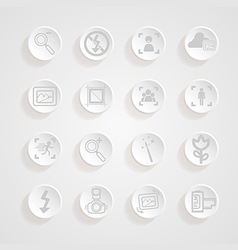 Shadows button camera icons set vector