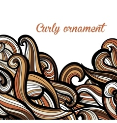 Curl abstract pattern with multicolored waves vector