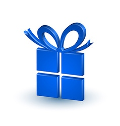 Blue gift vector